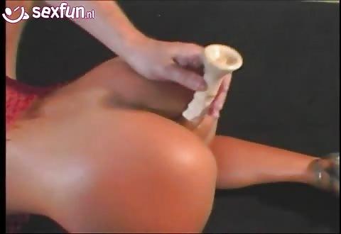 Pijpen vaginaal en anal batsen een dubbel penetratie en cum
