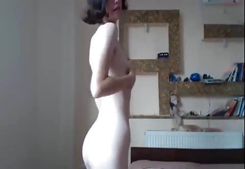 Extreem fijn webcam grietje met harig gleuf