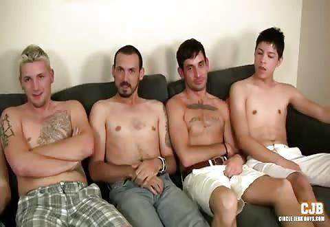 Een verscheidenheid aan homos bevredigen tegelijkertijd