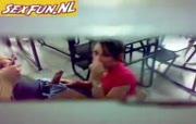 Studente worden stiekem gefilmd bij het sexen